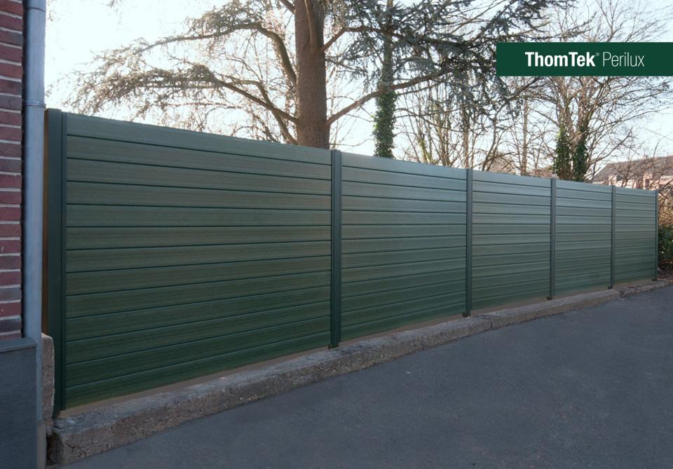 Thomtek perilux das neue schall und sichtschutz zaunsystem - Gartenzaun blickdicht ...