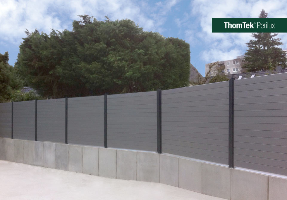 Thomtek Perilux Das Neue Schall Und Sichtschutz Zaunsystem